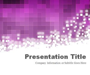 Pixels Purple PowerPoint Template