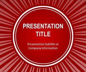 Red Sun Burst PowerPoint Template
