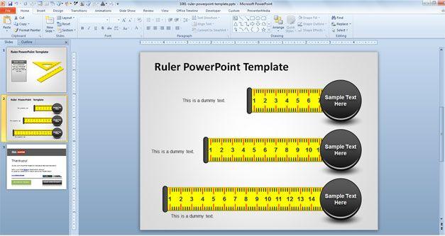 Plantilla PowerPoint de Regla y Medición