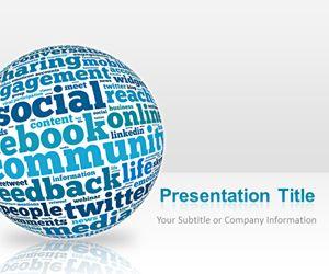 Blue Sphere Social Media PowerPoint Template