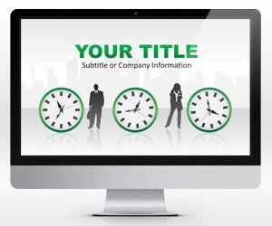 Plantilla PowerPoint sobre Tiempo es Dinero 16:9