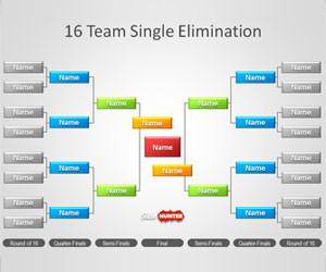 Tournament Brackets Template for PowerPoint