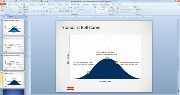 Free Gaussian Bell Curve for PowerPoint
