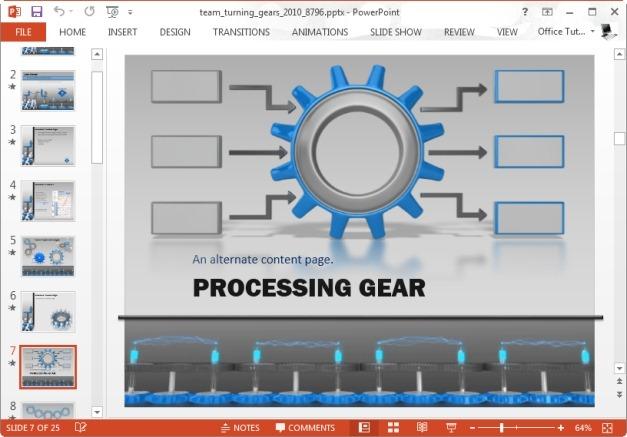 gear slide for making timelines