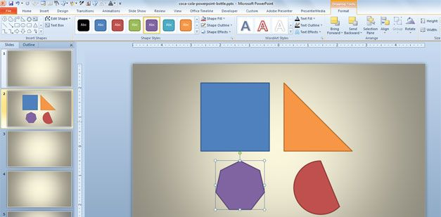 insert shapes powerpoint