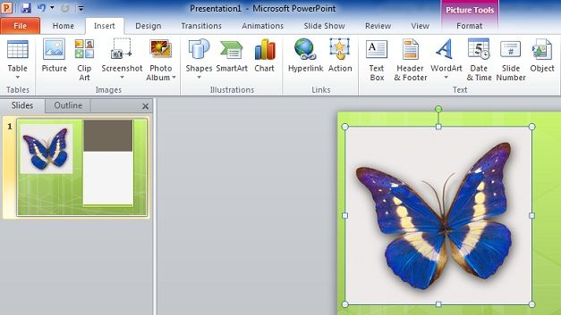 Add an animated GIF in PowerPoint