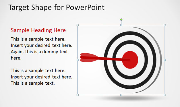 Goals & Objectives PowerPoint Template - Darts on Target