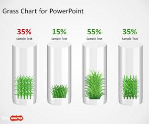 Creative Grass Chart Idea for PowerPoint