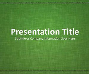 Linen Green PowerPoint Template