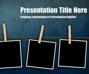 Peg Grunge PowerPoint Template
