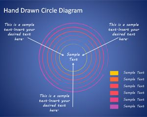 Editable Hand Drawn Circles Diagram for PowerPoint