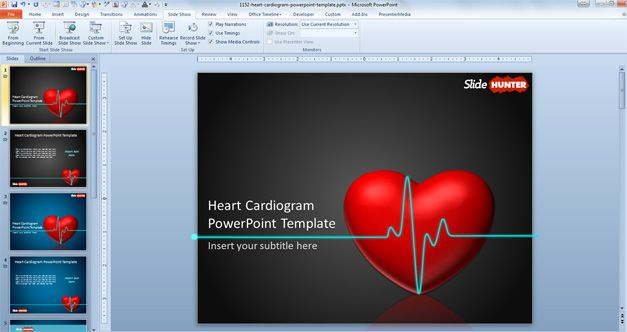Free animated heart PowerPoint Template