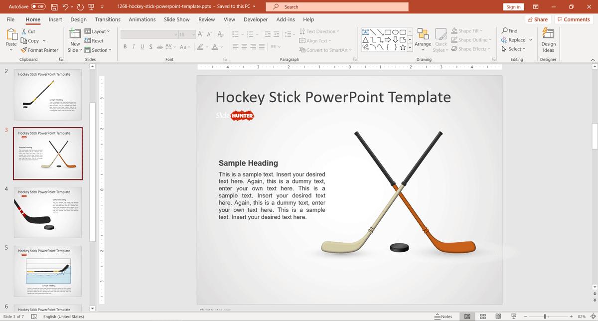 Hockey Stick Illustration