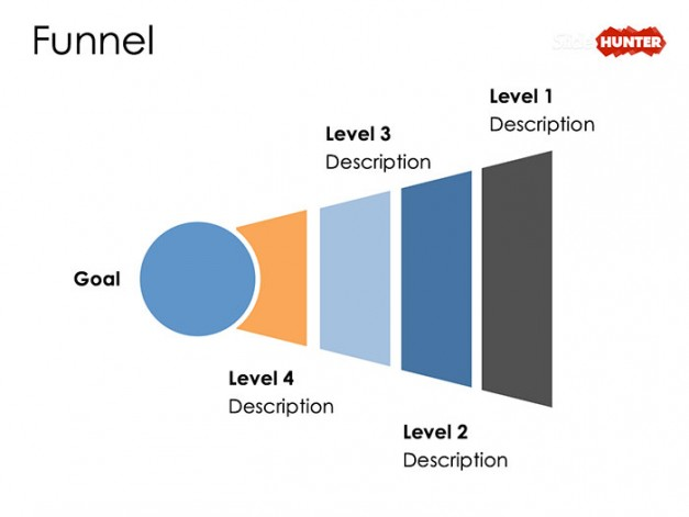Inverted Funnel Diagram Design for PowerPoint