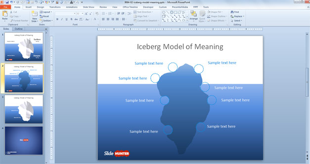 Iceberg Model Infographic design for PowerPoint