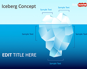 The tip of the Iceberg PowerPoint Template