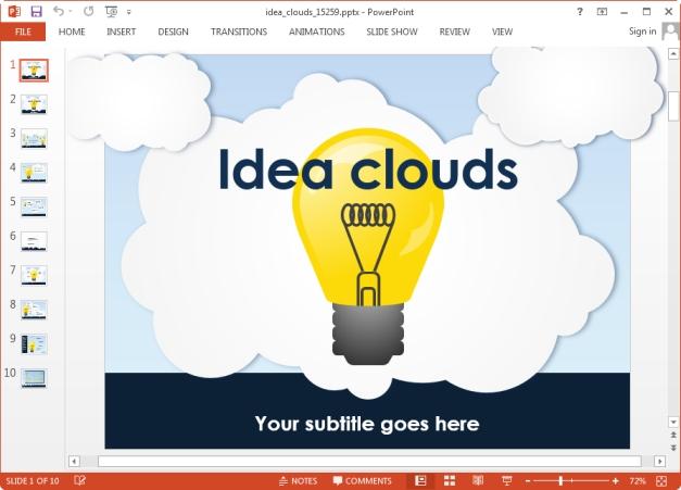 idea light bulb animated slide