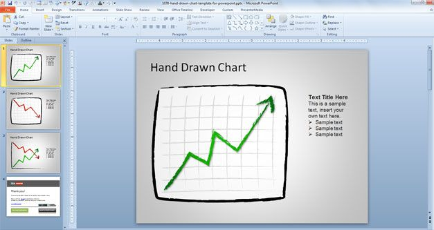 Hand Drawn Chart Template for PowerPoint