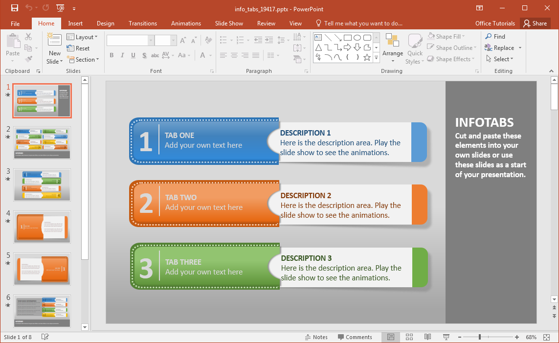 tabs-powerpoint-template