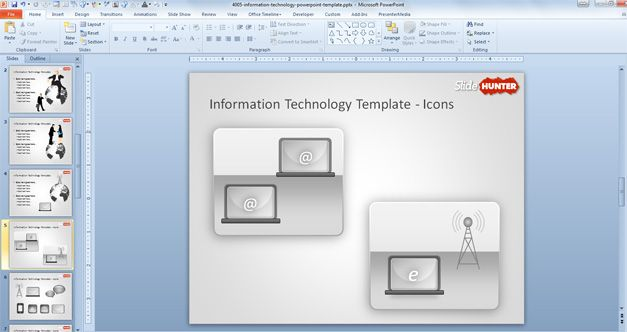 Free Information Technology background for PowerPoint