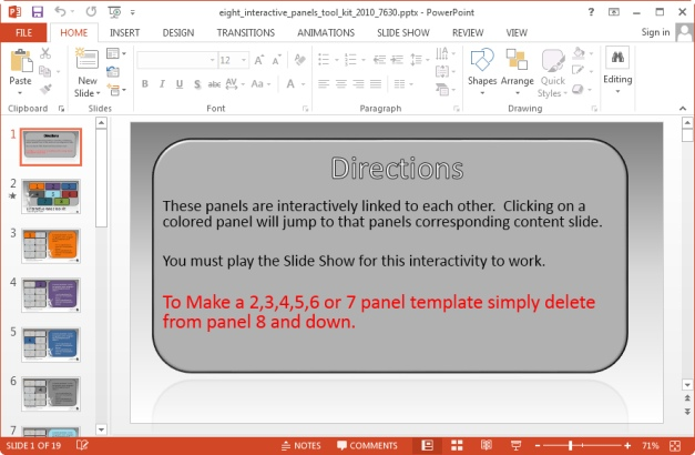 instructions for making interactive slides