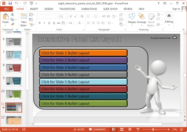 interactive panel list