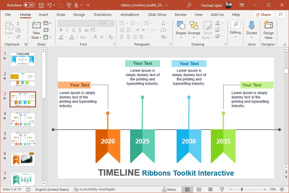 interactive ribbons