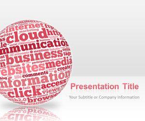Pink Sphere Internet PowerPoint Presentation