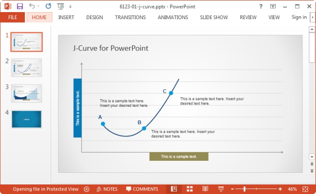 j curve template for powerpoint