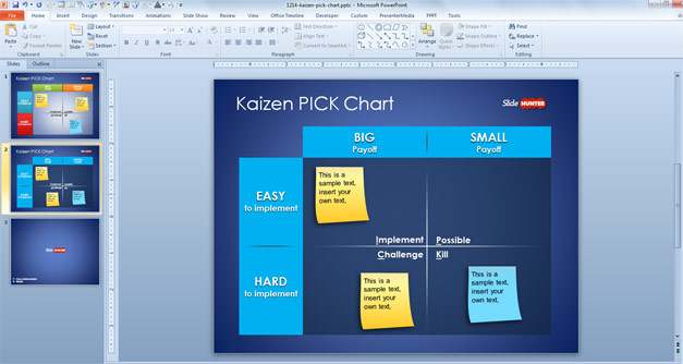 PICK Chart for PowerPoint