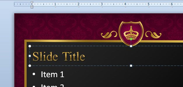 Free King PowerPoint background design