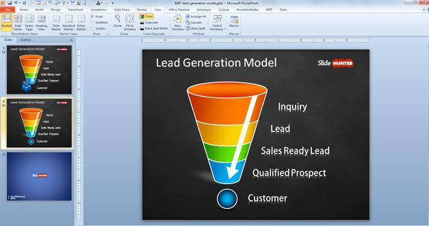 Lead generation slide design for PowerPoint