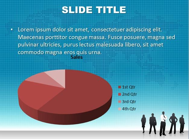 leadership slide with 3d pie chart template