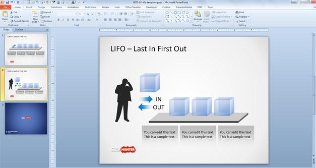 LIFO Queue PowerPoint Template