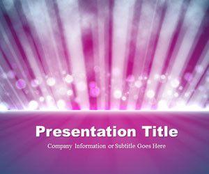 Light Rays Purple PowerPoint Template