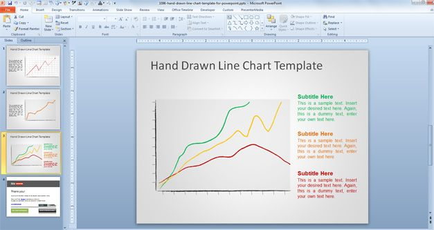 line chart example powerpoint