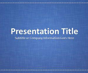 Linen Blue PowerPoint Template