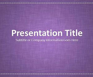 Linen Purple PowerPoint Template