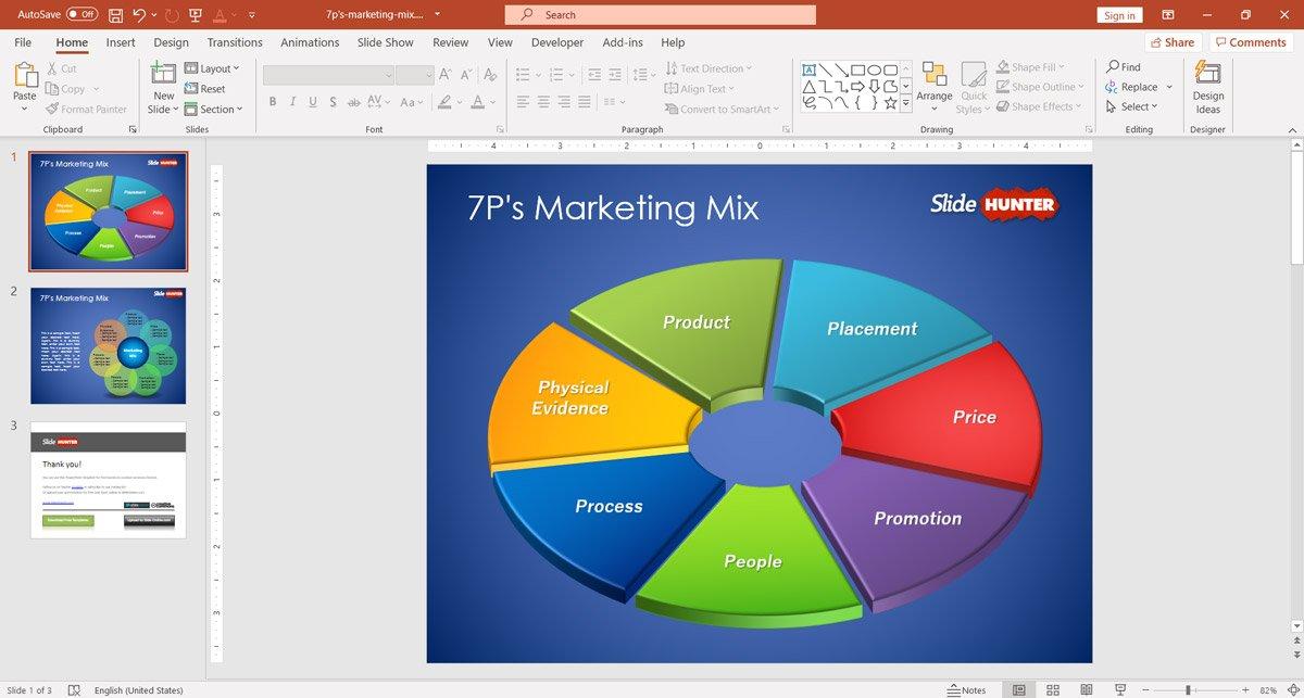 7p marketing mix PowerPoint template