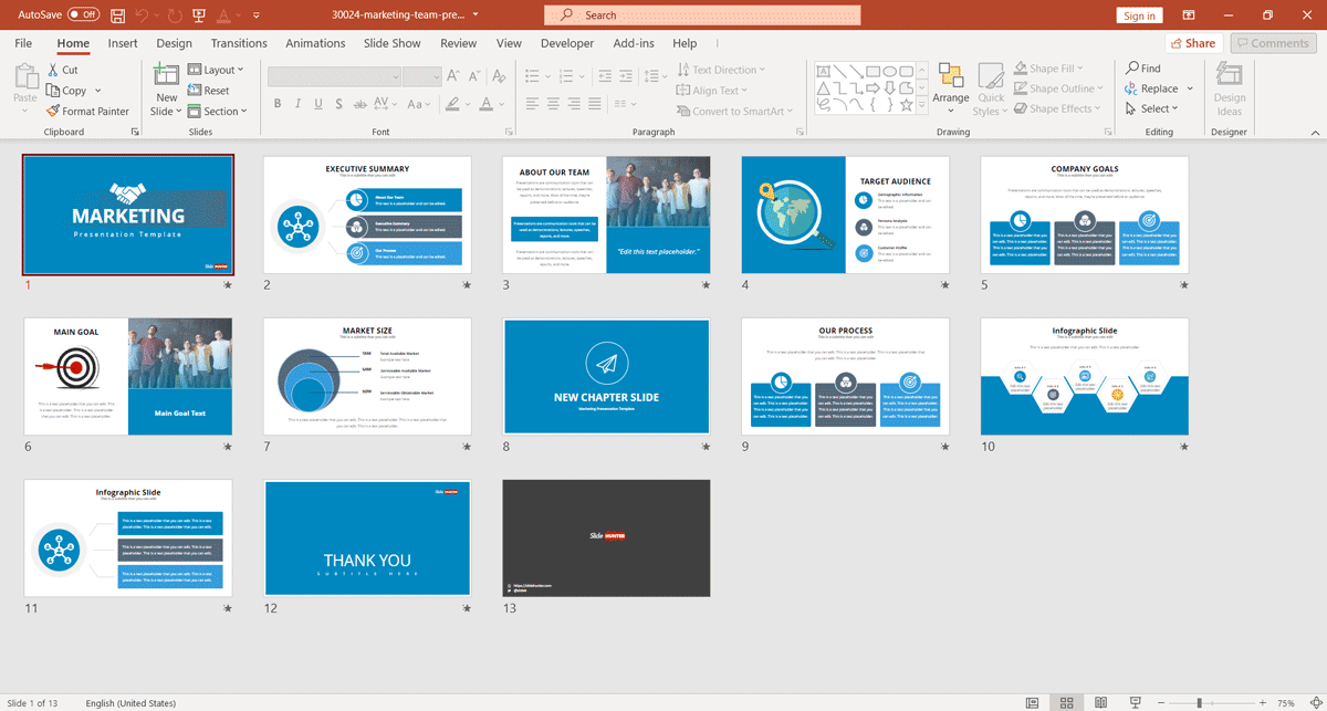 Free Marketing Plan PowerPoint Template