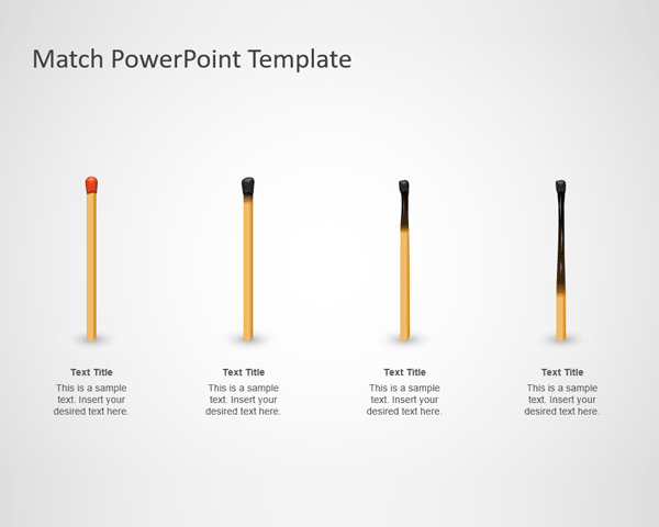 Igniting Match PowerPoint Template