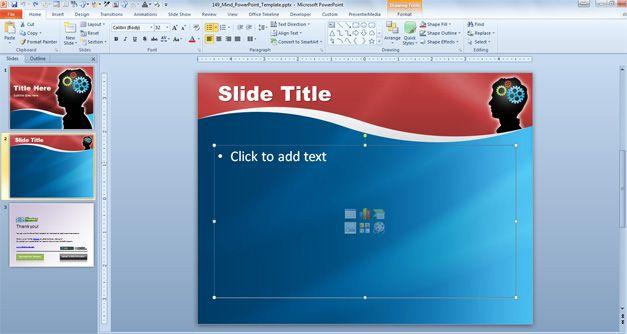 mind in powerpoint slide