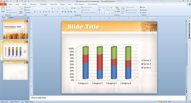Download free money PowerPoint template backgrounds for Sales and Finance presentations