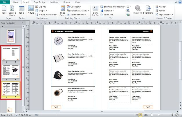 move page catalog powerpoint publisher