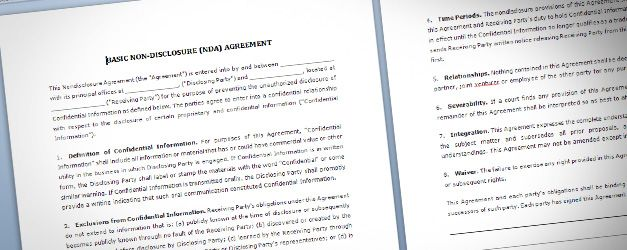 Free NDA Template for Microsoft Word 2010 and later
