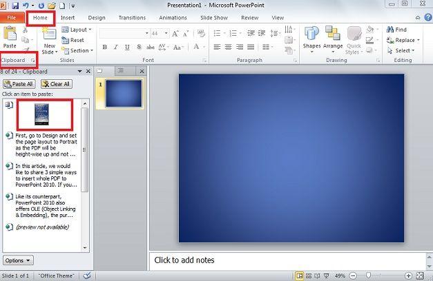 paste slide new powerpoint