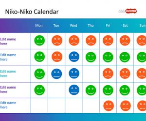 Niko-Niko Calendar PowerPoint Template