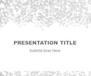 Numbers PowerPoint Template