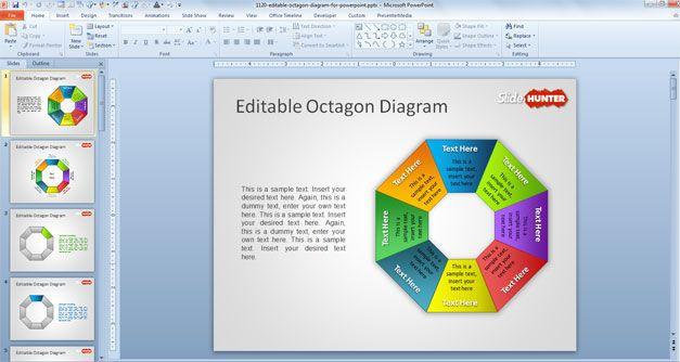 Octagon powerpoint template