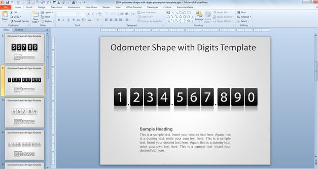 odometer template powerpoint download